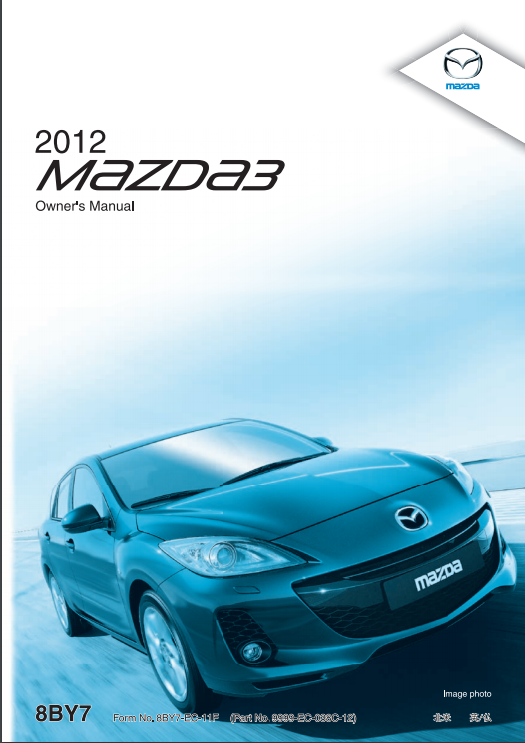 2012 Mazda3 Sports Owner's Manual Image