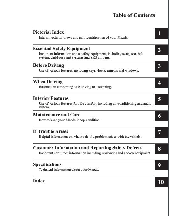 2017 Mazda3 Owner's Manual | OwnerManual