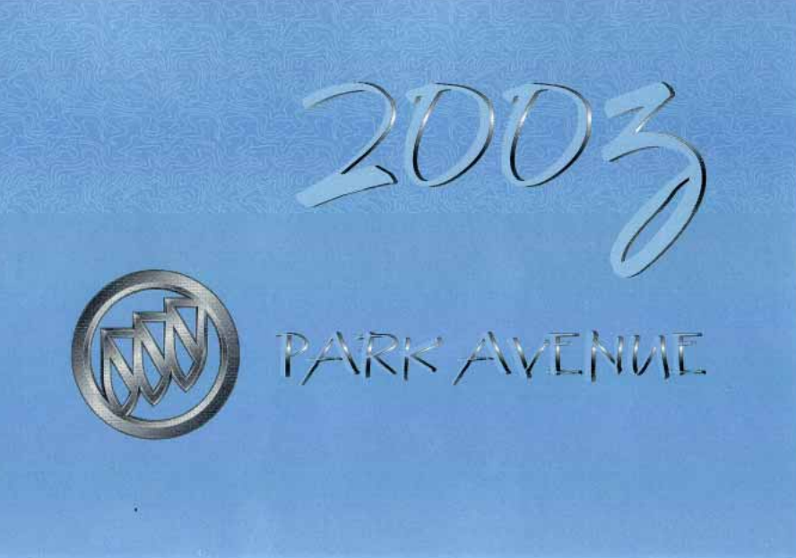 2003 Buick Park Avenue Owner's Manual Image