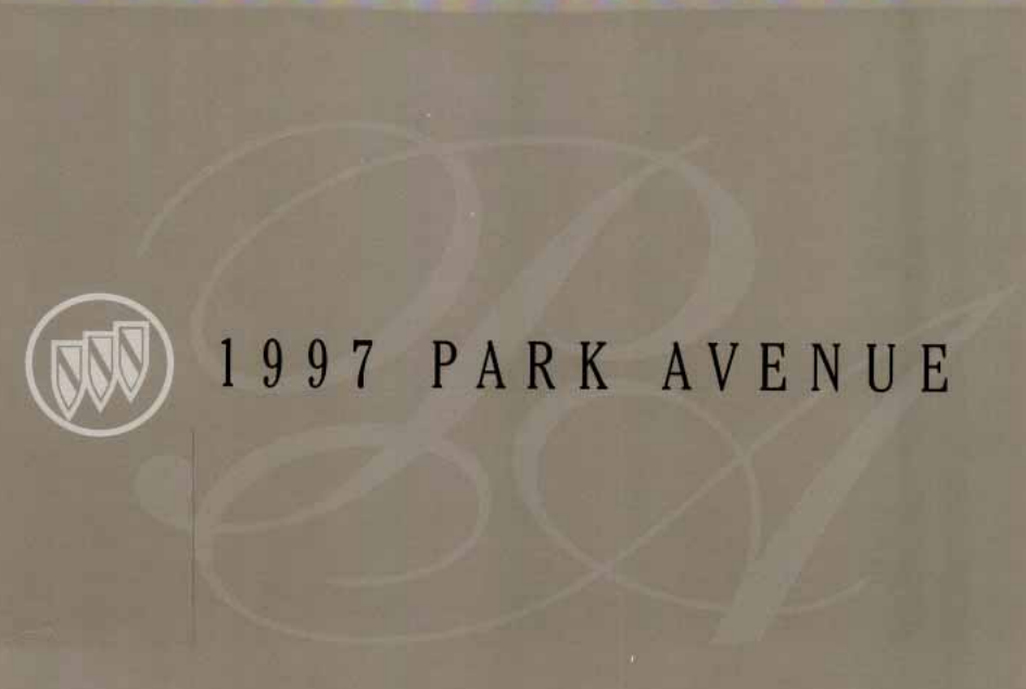 1997 Buick Park Avenue Owner's Manual Image