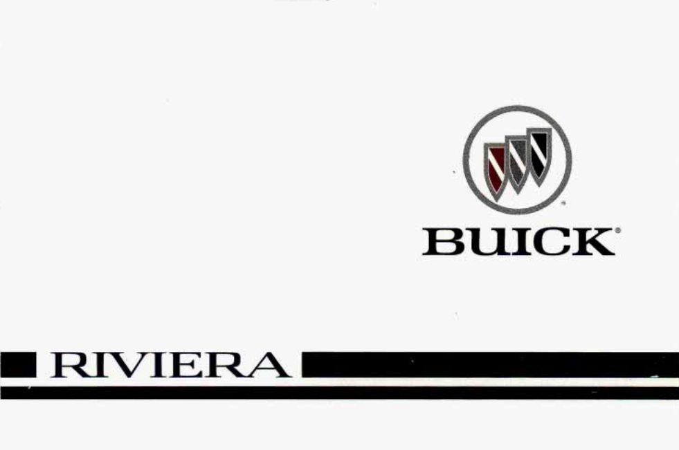 1996 Buick Riviera Owner's Manual Image