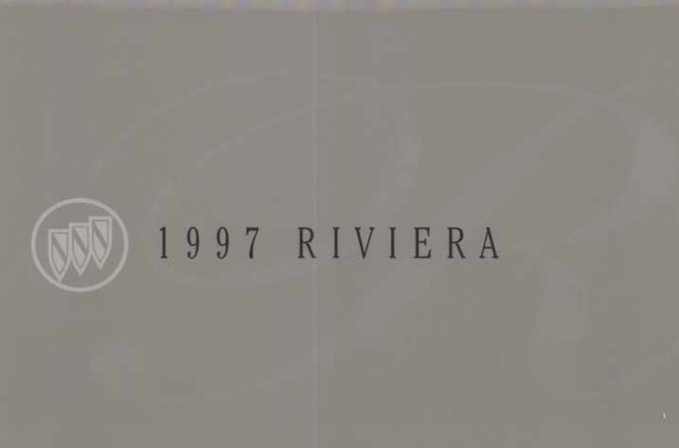 1997 Buick Riviera Owner's Manual Image