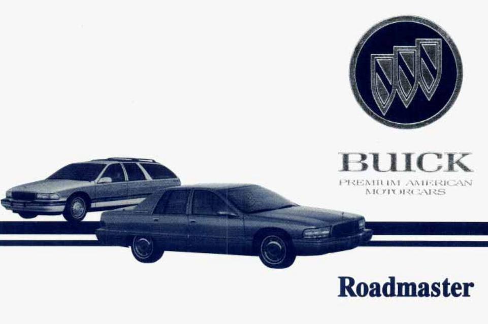 1995 Buick Roadmaster Owner's Manual Image