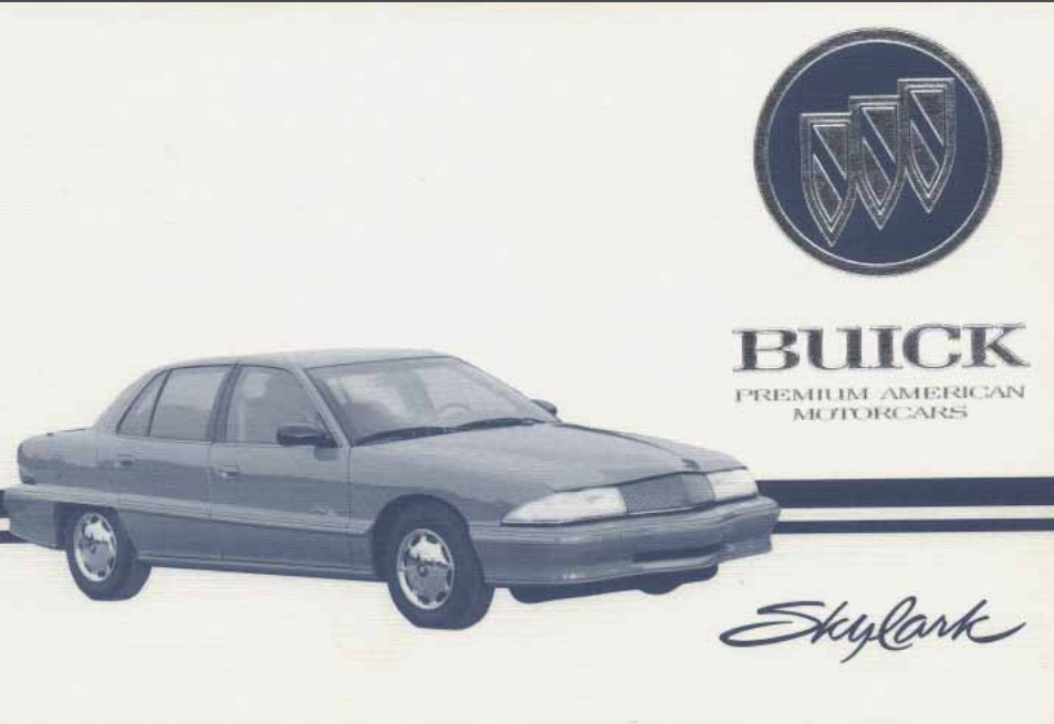 1995 Buick Skylark Owner's Manual Image