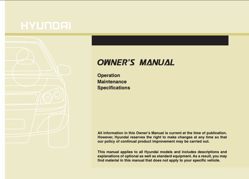 2013 Hyundai Tucson Owner's Manual Image