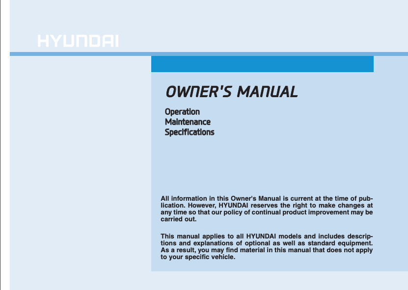 2019 Hyundai Tucson Owner's Manual Image
