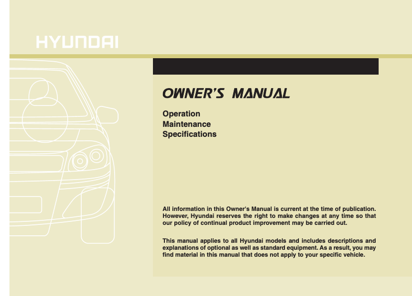 2012 Hyundai Veloster Owner's Manual Image