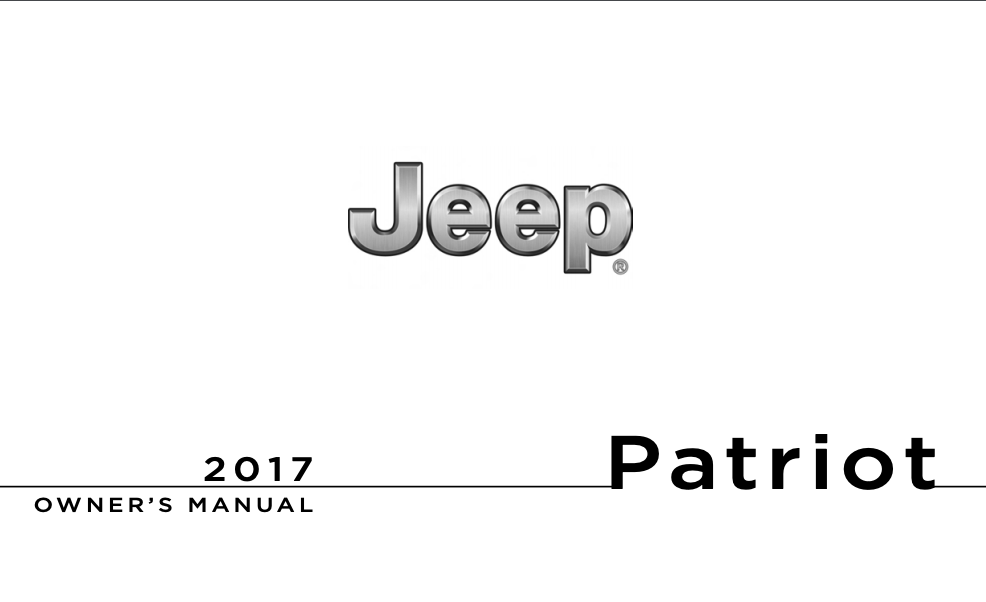 2017 Jeep Patriot Owner S Manual