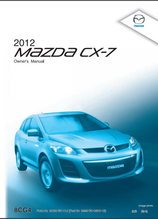 2012 Mazda CX-7 Owner's Manual Image