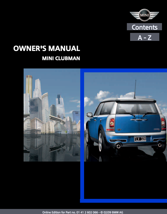 2009 Clubman with Mini Connected Owner's Manual Image