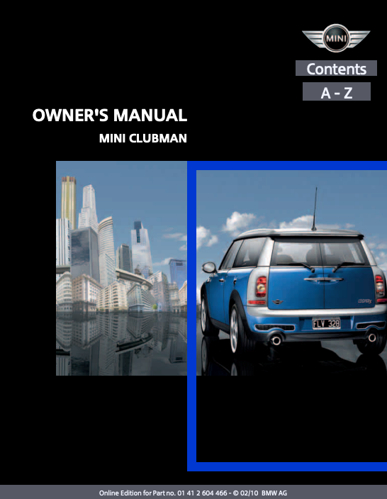 2010 Clubman with Mini Connected Owner's Manual Image