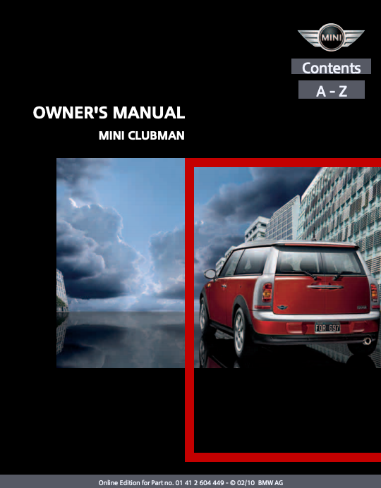2010 Mini Clubman Owner's Manual Image