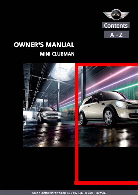 2011 Mini Clubman Owner's Manual Image