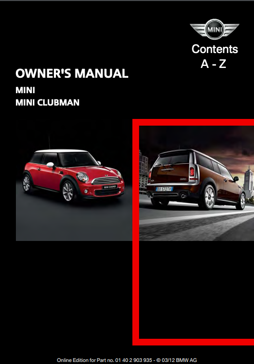 2012 Clubman with Mini Connected Owner's Manual Image