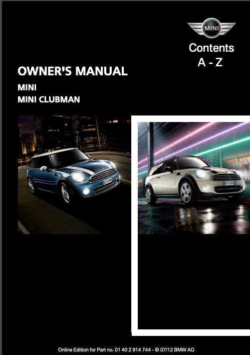 2012 Mini Clubman Owner's Manual Image