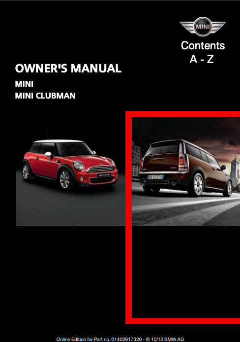 2013 Mini Clubman Owner's Manual Image