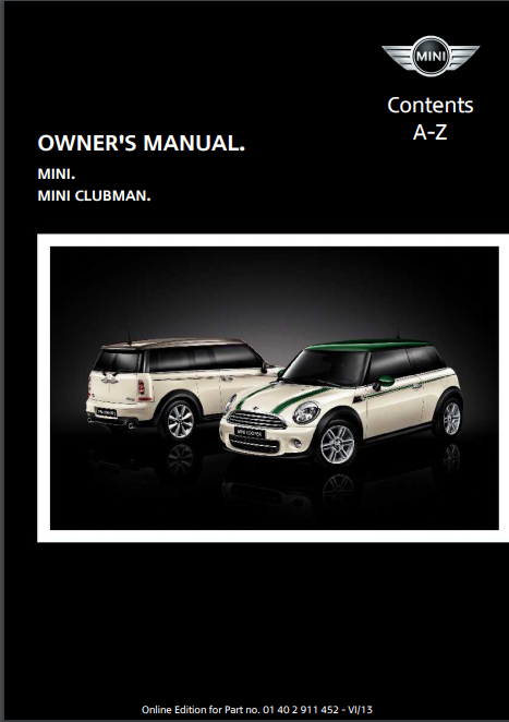 2014 Clubman with Mini Connected Owner's Manual Image