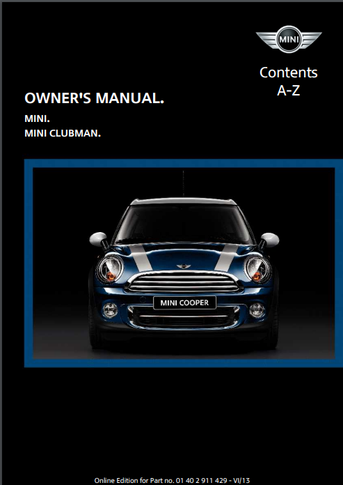 2014 Mini Clubman Owner's Manual Image