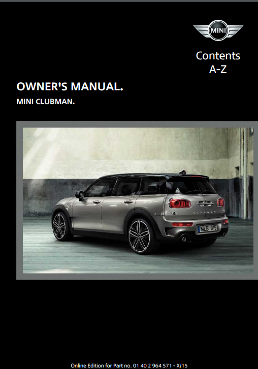 2016 Clubman with Mini Connected Owner's Manual Image