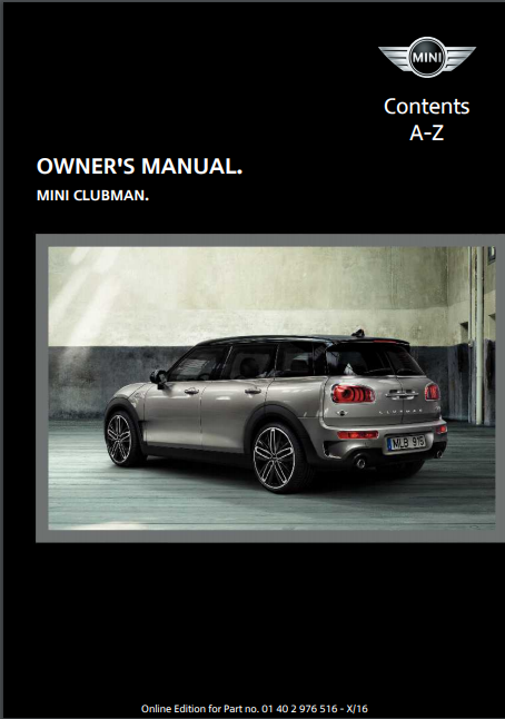 2017 Mini Clubman Owner's Manual Image