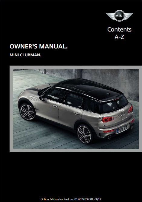 2018 Mini Clubman Owner's Manual Image