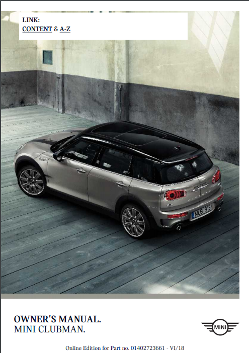 2019 Mini Clubman Owner's Manual Image