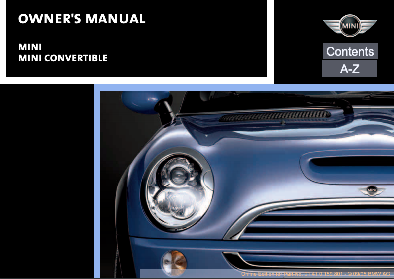 2006 Mini Convertible Owner's Manual Image