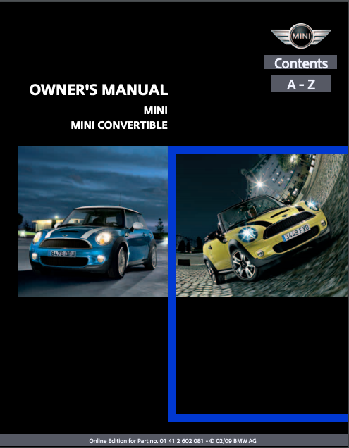 2009 Mini Convertible with Mini Connected Owner's Manual Image