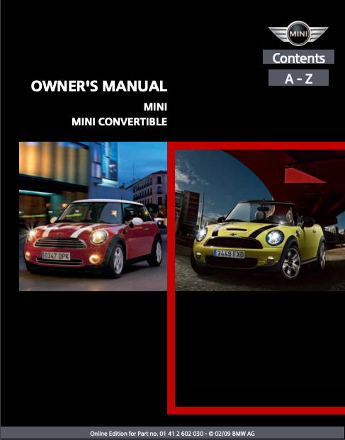 2009 Mini Convertible Owner's Manual Image