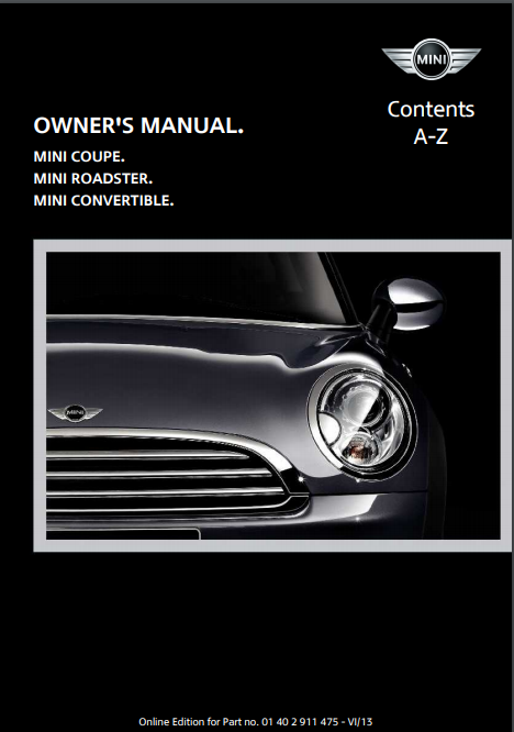 2014 Mini Convertible Owner's Manual Image
