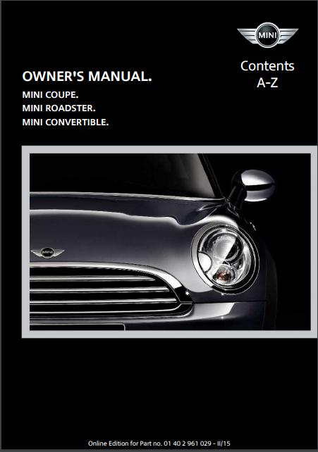 2015 Mini Convertible Owner's Manual Image