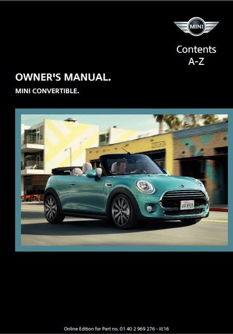 2016 Mini Convertible Owner's Manual Image