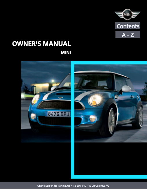 2009 Hardtop 2-door with Mini Connected Owner's Manual Image