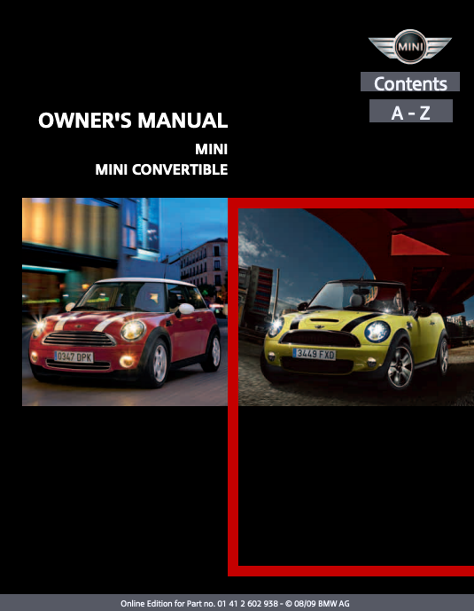 2010 Mini/ Mini Convertible Owner's Manual Image