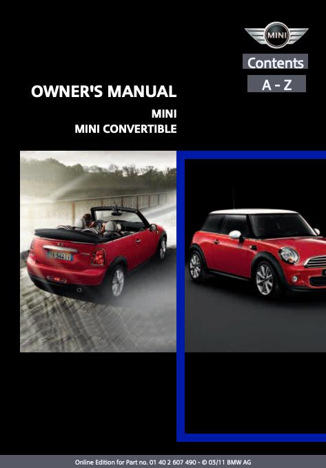 2011 Mini/ Mini Convertible Owner's Manual Image