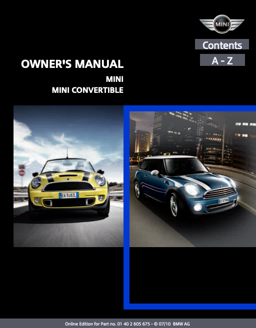 2011 Hardtop 2-door with Mini Connected Owner's Manual Image