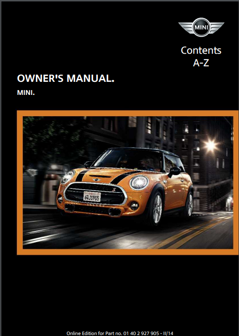 2014 Mini Owner's Manual Image