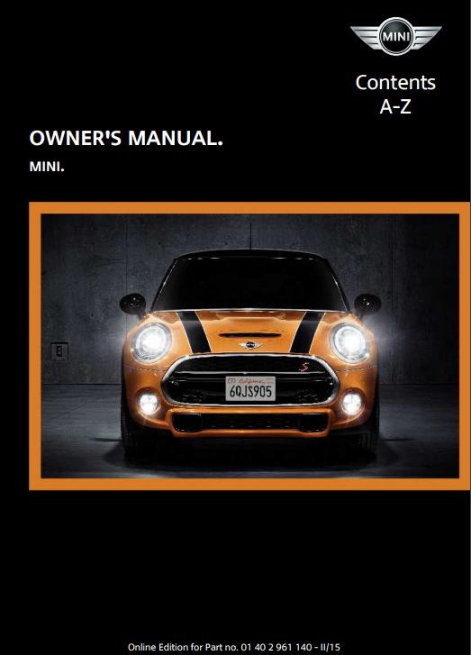 2015 Mini Owner's Manual Image