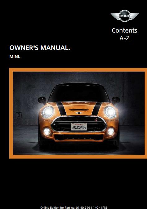 2015 Mini Hardtop 4-door Owner's Manual Image
