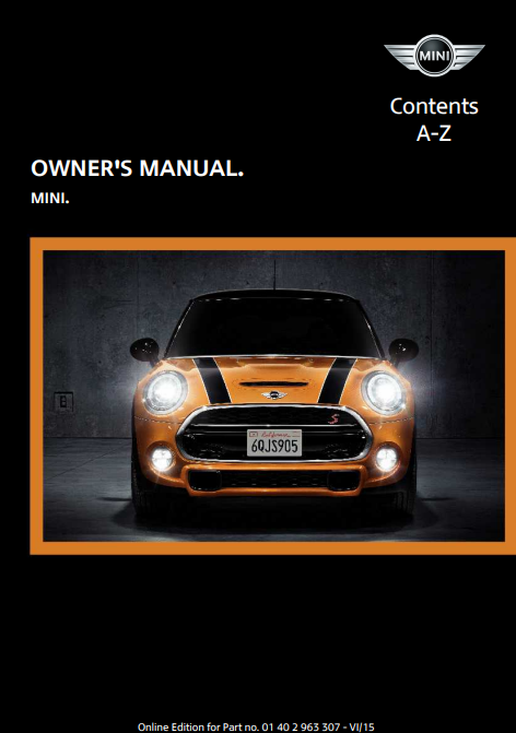 2016 Mini  Hardtop 4-door Owner's Manual Image