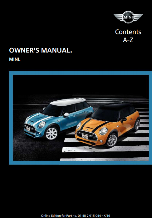 2017 Mini Hardtop 4-door Owner's Manual Image