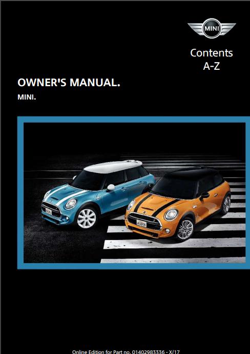 2018 Mini Owner's Manual Image