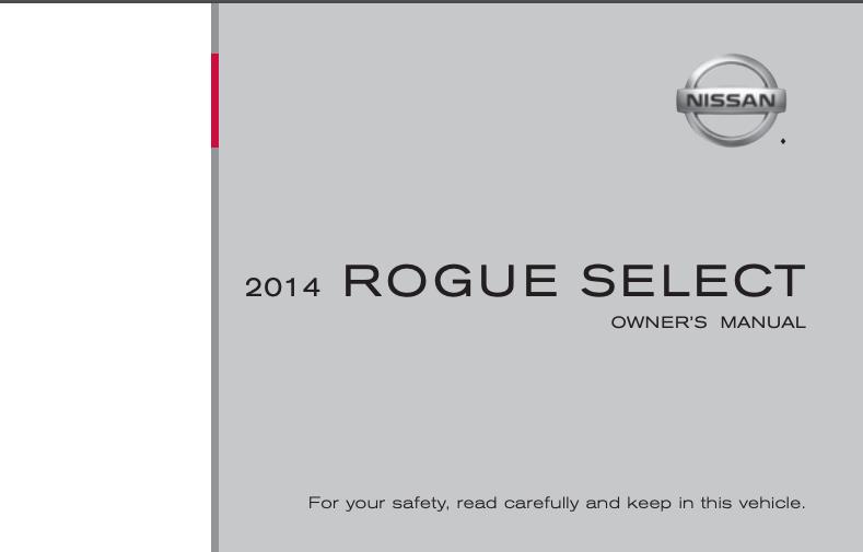 2014 Nissan Rogue Select Owner's Manual Image