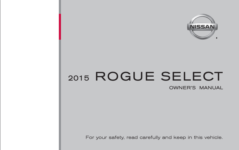 2015 Nissan Rogue Select Owner's Manual Image