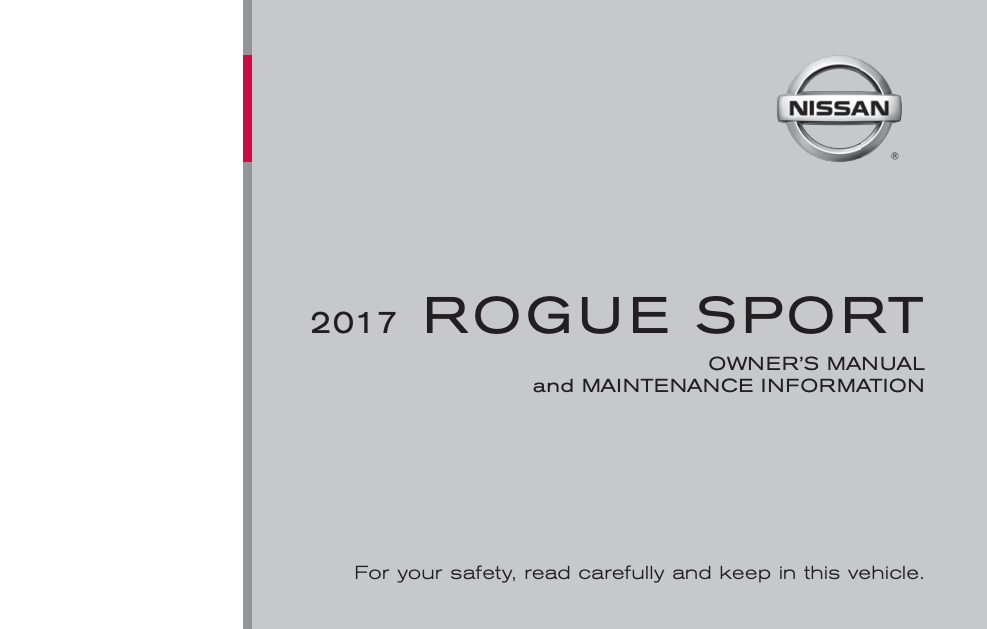 2017 Nissan Rogue Sport Owner's Manual and Maintenance Information Image
