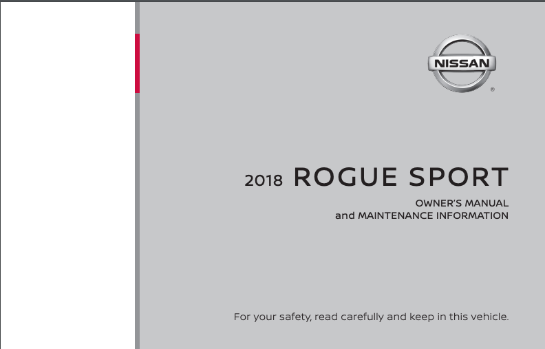 2018 Nissan Rogue Sport Owner's Manual and Maintenance Information Image