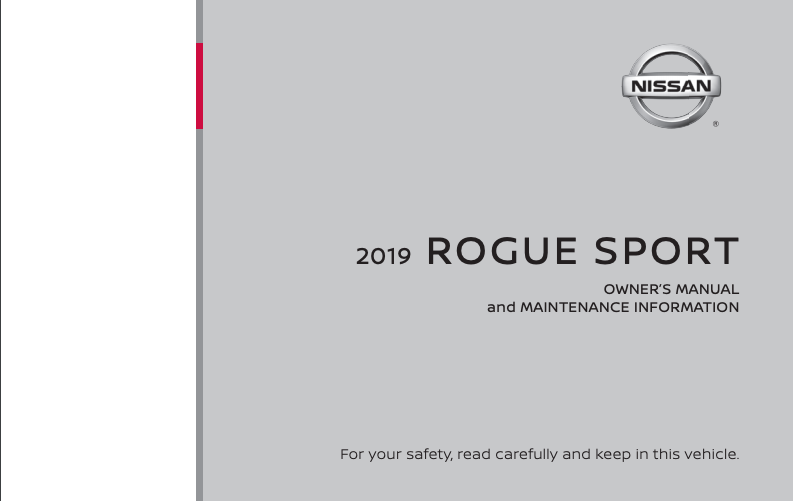 2019 Nissan Rogue Sport Owner's Manual and Maintenance Information Image