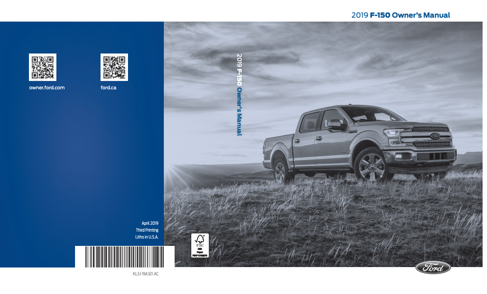 2019 Ford F-150 Owner's Manual Image