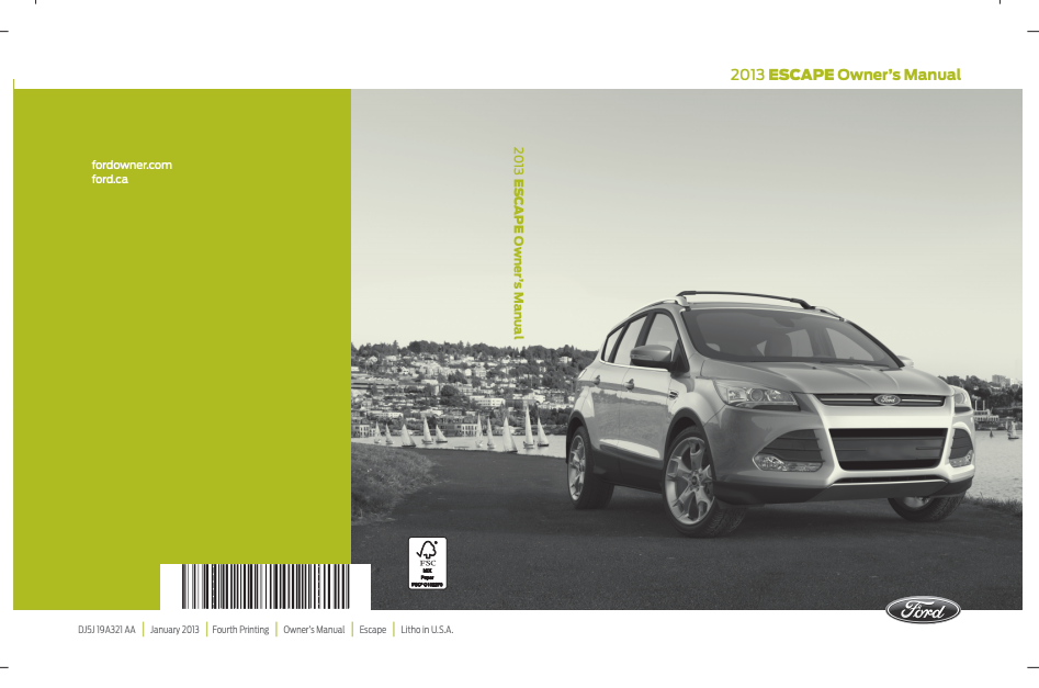2013 Ford Escape Owner's Manual Image