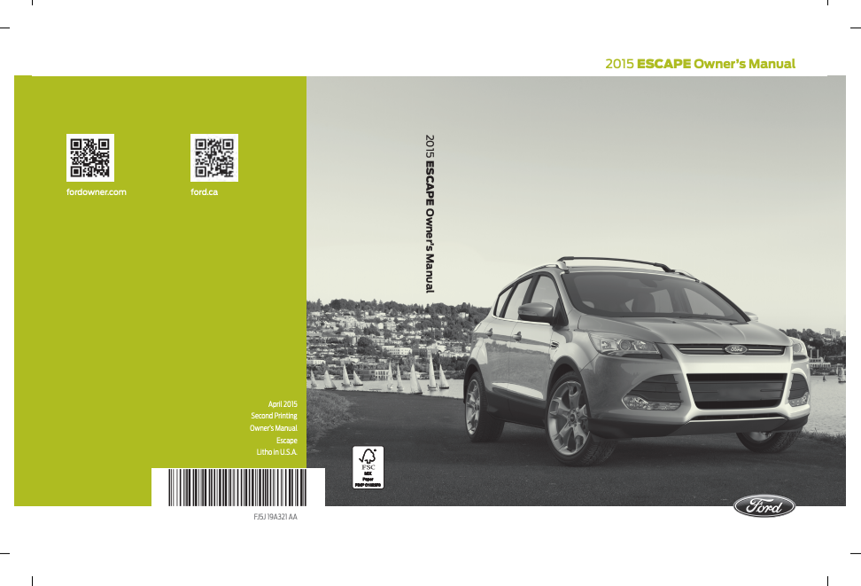 2015 Ford Escape Owner's Manual Image